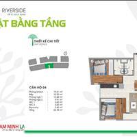 Căn hộ bên sông Sài Gòn 64m2, 2 phòng ngủ, 2WC, gần chợ Đường Quận 12, thanh toán trước 360 triệu