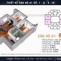 Chính chủ cho thuê căn hộ chung cư Mipec Highrise Hà Đông, 69m2, 2PN, nội thất cơ bản, 4,5 tr/tháng