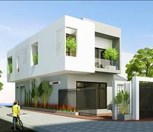 Thiết kế nhà phố hiện đại, đơn giản
