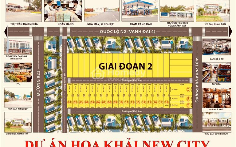 Dự án Hoa Khải New City, giá đầu tư chỉ 6 triệu/m2, sổ hồng riêng có sẵn