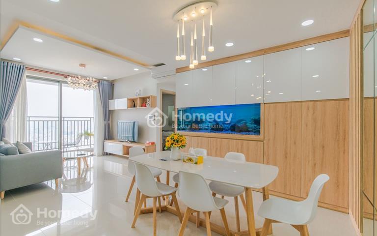 Cho thuê căn hộ 3 phòng ngủ, 2 WC cao cấp River Gate Bến Vân Đồn Quận 4, giá 1500 USD/tháng