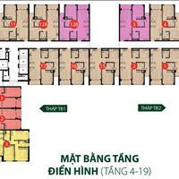 Cần bán căn hộ 3 phòng ngủ 2 wc, diện tích 96m2, giá chỉ 4,3 tỷ, căn góc, 2 view, nội thất 80%