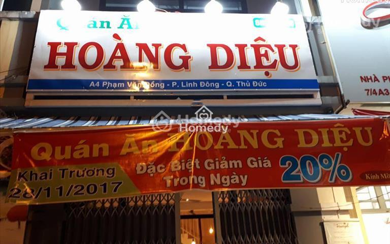 Cho thuê nhà nguyên căn mặt tiền đường Phạm Văn Đồng