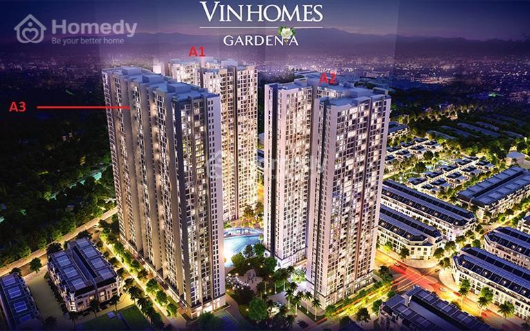 Cho thuê 230m2 Shophouse sàn thương mại tầng 1 và 2 Vinhomes Gardenia