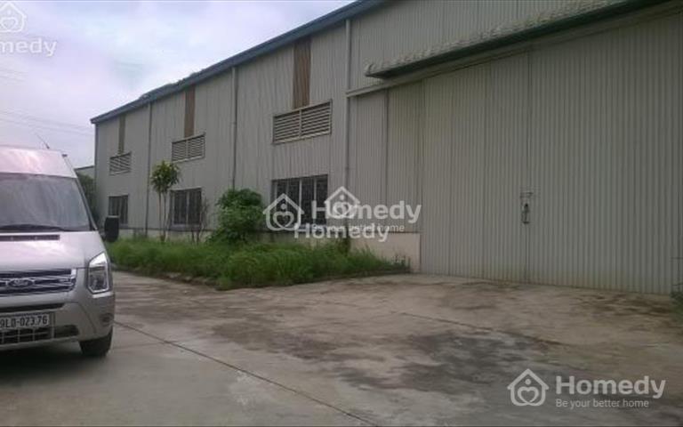Cho thuê kho xưởng lô 3B khu công nghiệp Hòa Xá, An Xá, Nam Định, diện tích 1000m2, 3500m2