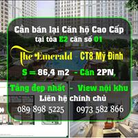Chính chủ bán căn hộ 2PN 86,4m2, tầng và căn đẹp nhất tòa E2 -The Emerald, sắp nhận nhà, bao phí