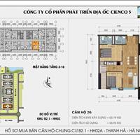 Bán căn hộ giá rẻ nhất, diện tích có 2 phòng ngủ và 2 wc
