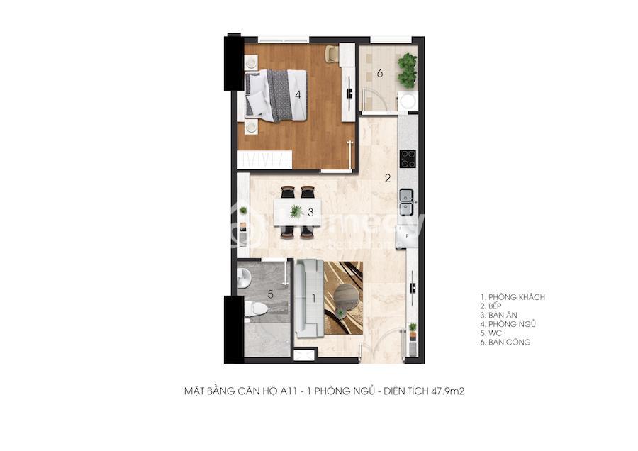 Mặt bằng Citrine Apartment
