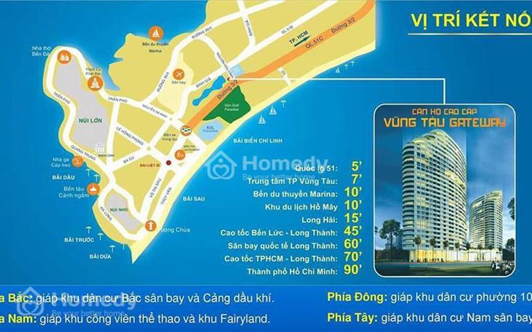Cần bán lại 1 số căn Gateway Vũng Tàu 1 - 3 phòng ngủ, giá tốt, view biển