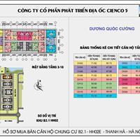 Cần bán chung cư Thanh Hà Cienco 5, 69.92m, 2 phòng ngủ, view hồ, giá gốc 12 triệu/m2