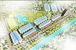 Được quy hoạch trên tổng diện tích hơn 33ha được thiết kế theo hình chữ L ngược bao bọc xung quanh bởi 2 con kênh và sông lớn là Cầu Tây và Lệ Kỳ.