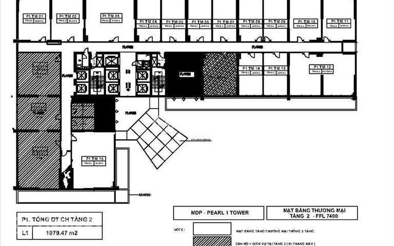 Cho thuê Shophouse chân khối đế chung cư Mỹ Đình Pearl 1, lô góc 280m2, 100 triệu/tháng