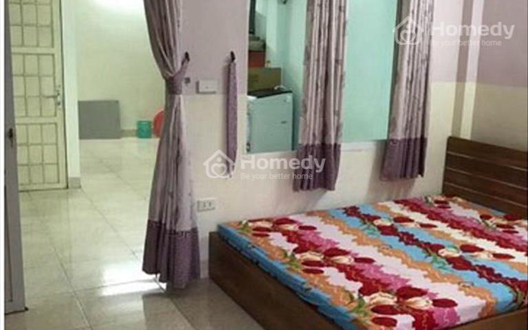 Cho thuê căn hộ full đồ ở ngõ 5 Nguyễn Khánh Toàn, Cầu Giấy 45m2, 1 phòng khách, 1PN, giá 5,5 triệu
