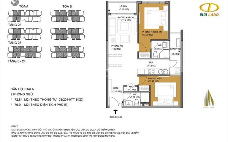 Chính chủ cần bán căn hộ Đức Long Golden Land Quận 7 A15.11 view Phú Mỹ Hưng giá chỉ 2,2 tỷ