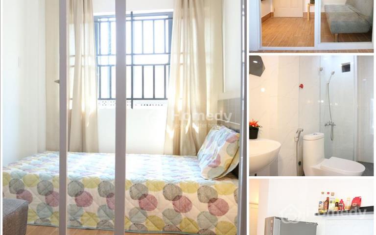 Căn hộ quận 11 30m2 (1 phòng ngủ, 1 phòng khách, 1 bếp, ban công)
