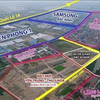 Đầu tư đất nền cạnh Samsung Bắc Ninh, giá chỉ 1,1 tỷ chiết khấu lên đến 7%, sổ đỏ lâu dài