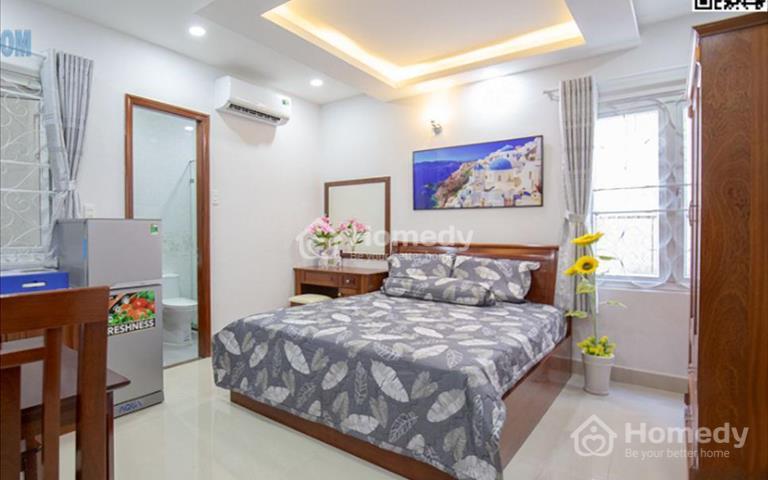 Cho thuê căn hộ giá rẻ tại Hoàng Sa, sát Phạm Văn Hai, full nội thất, hẻm ô tô, bảo vệ 24/24
