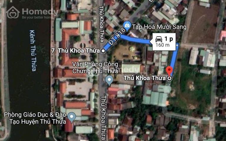 Nhanh tay chọn 1 lô đất trung tâm thị trấn Thủ Thừa 560tr/nền, cách Ủy ban Nhân dân huyện 160m