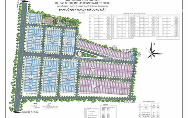 Dự án đầu tư đất nền đầu tiên tại Gia Lai, dự án SH Land