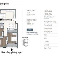 Căn hộ 3 phòng ngủ 2 ban công view Landmark 81, mặt tiền Nguyễn Thị Thập trả trước 750 triệu