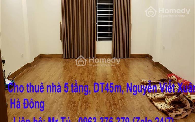 Cho thuê nhà 5 tầng, 45m2, 5 tầng Nguyễn Viết Xuân, Hà Đông