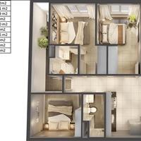 Topaz Elite liền kề Quận 1, căn hộ 3 phòng ngủ view Đông Nam bán nhanh chênh lệch 160 triệu