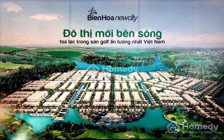 Cần bán lại 1 lô đất nền Biên Hòa New City, chỉ 15 triệu/m2, sổ đỏ trao tay công chứng ngay