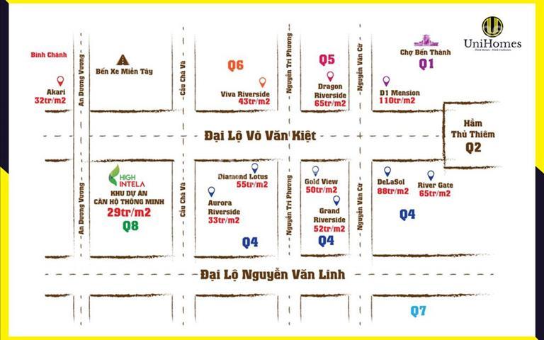 Dự án High Intela mặt tiền đường Võ Văn Kiệt quận 8, giá gốc chủ đầu tư, liên hệ ngay