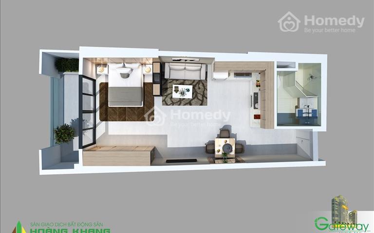 Bán căn hộ Vũng Tàu Gateway 1 phòng ngủ tầng cao view đẹp giá rẻ chính chủ
