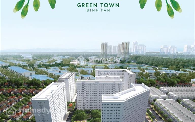 Bán căn hộ Green Town Bình Tân, thanh toán 50% nhận nhà ngay, chỉ 1.6 tỷ căn 2 phòng ngủ, 2WC