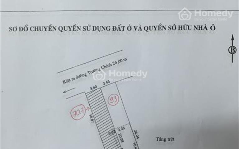 Chính chủ cần bán lô đất đẹp kiệt 2 ô tô Trường Chinh thông Nguyễn Phước Nguyên giá 5,7 tỷ
