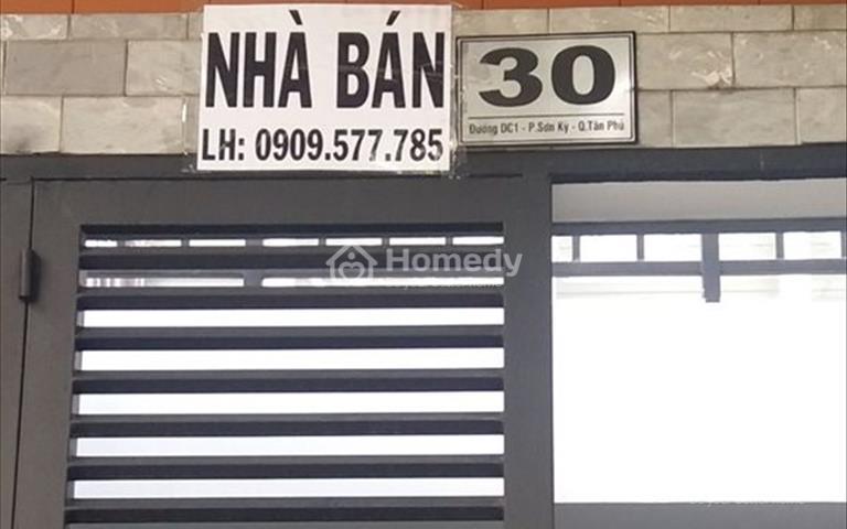 Nhà mặt tiền kinh doanh, chính chủ, 4×14m, đúc 4 tấm, số 30 đường DC1, phường Sơn Kỳ, Tân Phú