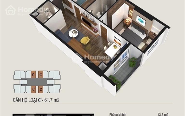 Duy nhất căn hộ 62m2 số 05 Thăng Long Capital giá 1.27 tỷ cho khách hàng nhanh tay nhất