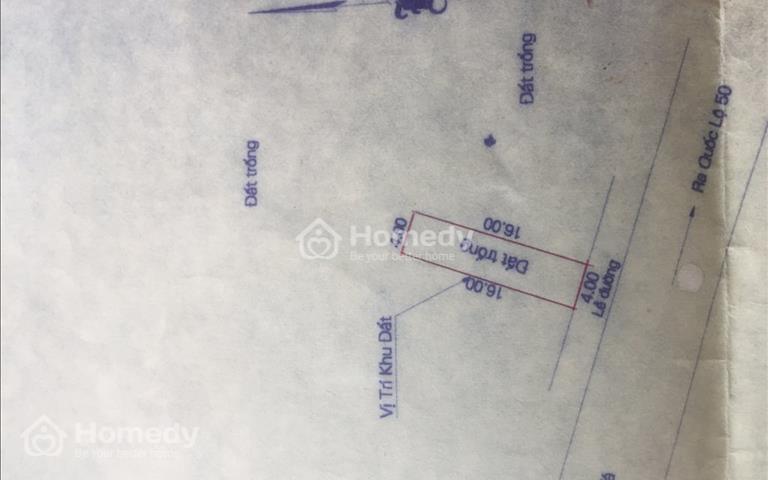 Bán đất chính chủ xã Phong Phú, Bình Chánh, chia lô 4x16m, mặt đường 7m