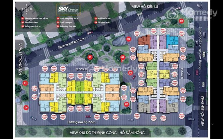 Cần nhượng lại căn góc đã đặt mua tại tầng 16 dự án Sky Central