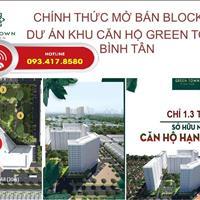Nhượng căn hộ Green Town Bình Tân giá rẻ nhất thị trường, 49m2-1.15 tỷ, 53m2-1.25 tỷ, 72m2-1.6 tỷ
