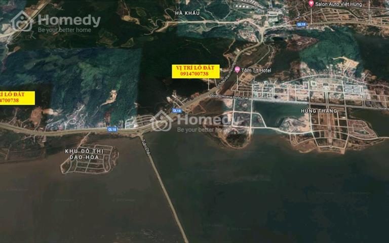 Bán đất Đồn Điền 400m2 - 600m2 mặt đường quốc lộ 18 phường Hà Khẩu - Hạ Long, Quảng Ninh