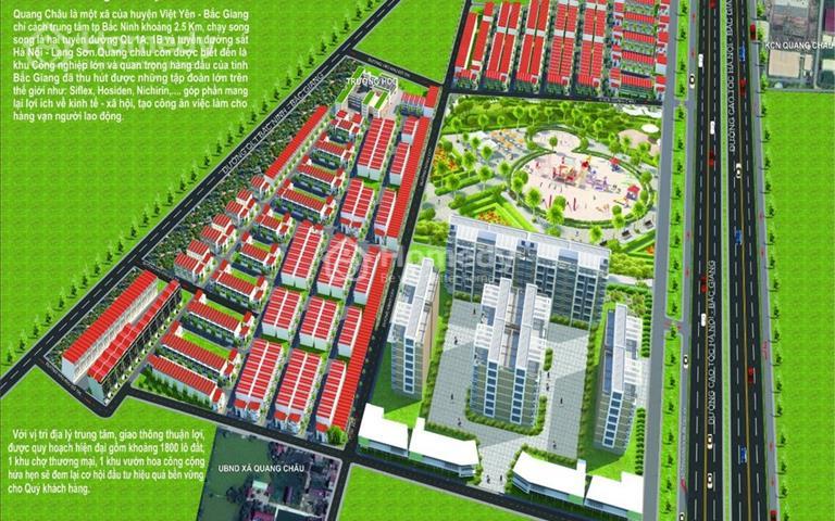 Đất sổ đỏ chính chủ Quang Châu, Việt Yên, Bắc Giang, 72m2 bán 750 triệu