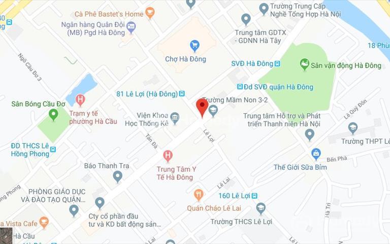 Cho thuê nhà phố Lê Lợi - Hà Đông làm văn phòng, trung tâm đào tạo