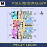 Chính chủ cần sang lại căn hộ Tecco Tower Dĩ An 2 phòng ngủ, 2WC, 2 ban công thoáng mát
