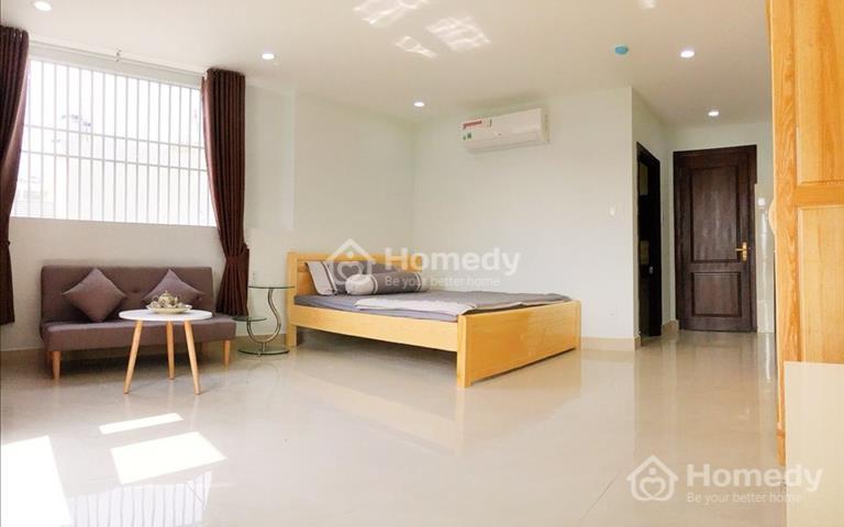 Cho thuê căn hộ full nội thất trên đường Nguyễn Chí Thanh, nhà mới xây, không chung chủ