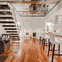 Officetel - Căn hộ ở kết hợp văn phòng thiết kế gác lửng mặt tiền phố thương mại Quận 7, 1,7 tỷ
