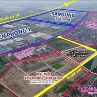 Đất nền khu đô thị Samsung Yên Phong Bắc Ninh, đã có sổ đỏ, giá gốc chủ đầu tư, chỉ từ 11 triệu/m2