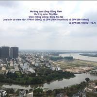 Hạ giá căn hộ The Sun Avenue - 2 phòng ngủ- 76m2, 3,25 tỷ, ban công dài view sông