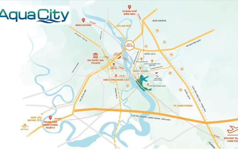 Cơ hội đầu tư sinh lời tại khu đô thị Aqua City, 05 con số vị trí chiến lược