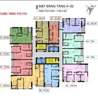 Cần bán nhanh căn hộ chung cư 110 Cầu Giấy Center Point, 1605, 102.3m2, giá 3,55 tỷ