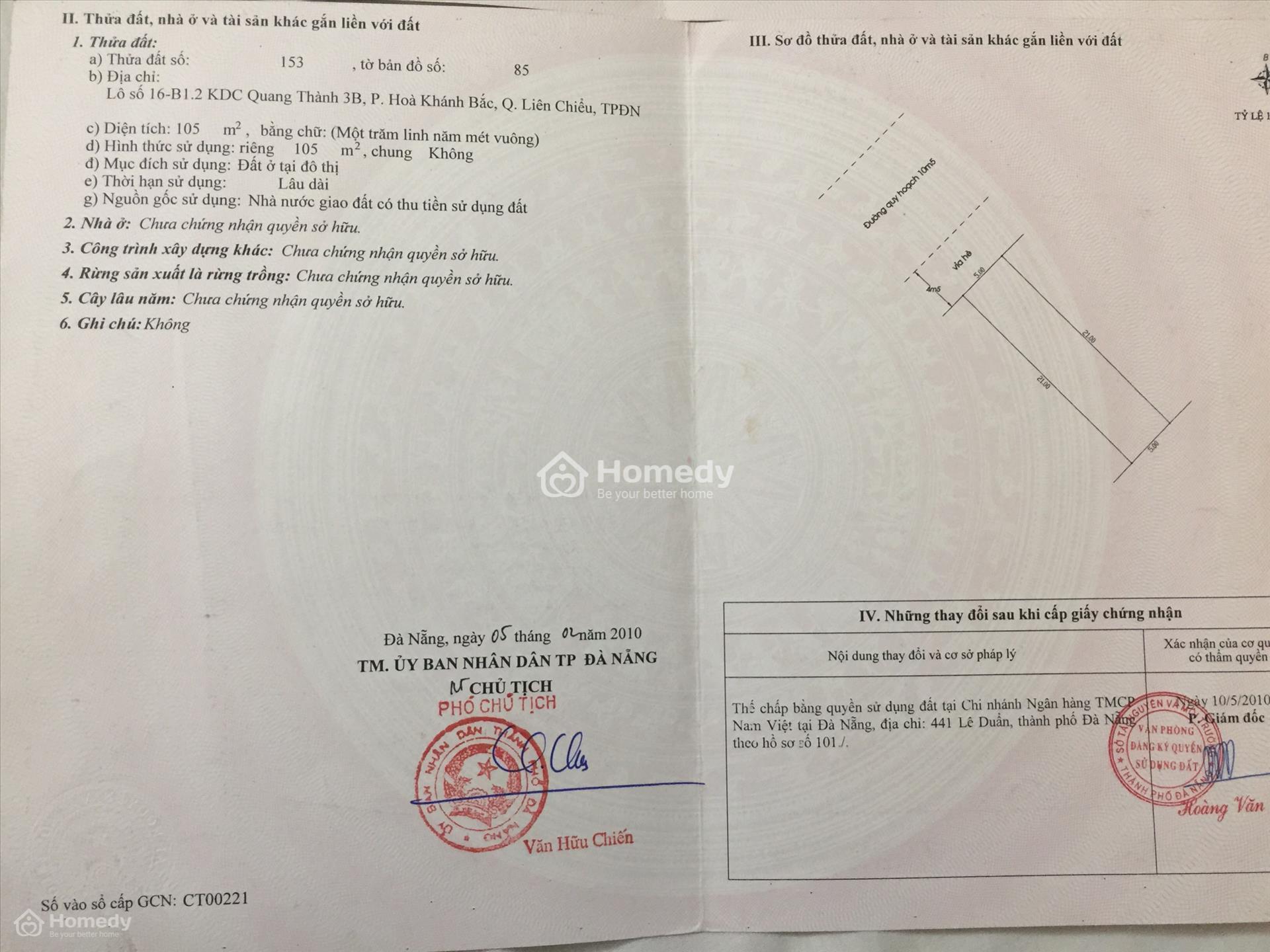 Hình ảnh sổ hồng chung cư do Bộ Tài nguyên và Môi trường phát hành