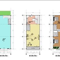 Nhà phố 1 trệt 2 lầu - nhà mới hoàn thiện - thổ cư 100%