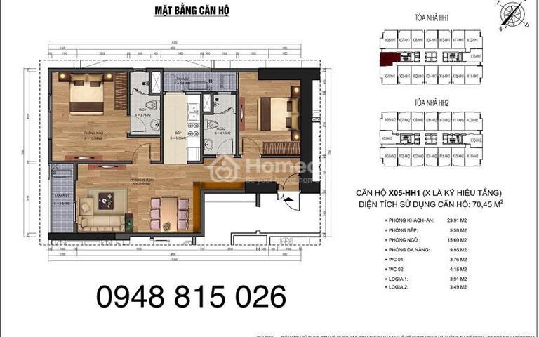 Bán các suất ngoại giao căn 2- 3 phòng ngủ đẹp nhất tại 90 Nguyễn Tuân, giá 28 triệu/m2