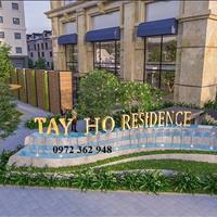 Dự án Tây Hồ Residence 68A Võ Chí Công Hà Nội, giá chủ đầu tư